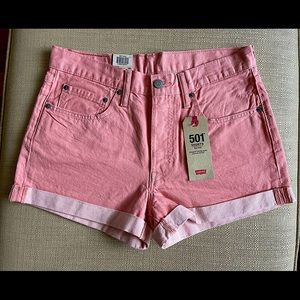 NWT Rose Pink 501 Mid-Rise  Levi's shorts